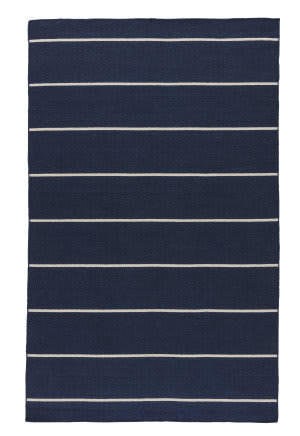 Jaipur Living Coastal Shores Cape Cod Coh19 Patriot Blue - Egret Area Rug