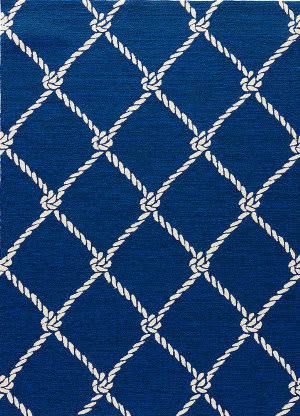 Jaipur Living Coastal Lagoon Fish Net Col52 Estate Blue Area Rug