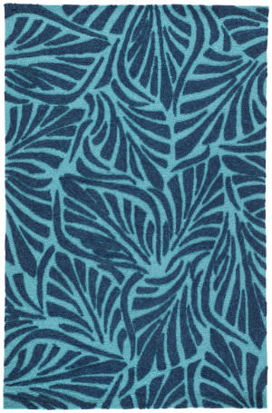 Jaipur Living Coastal Lagoon Palm Breezy Col61 Pagoda Blue Area Rug