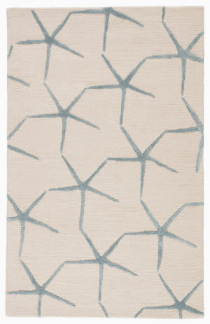 Jaipur Living Coastal Resort Starfishing Cor24 Moonbeam - Winter Sky Area Rug