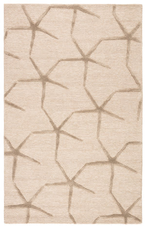 Jaipur Living Coastal Resort Starfishing Cor25 Oyster Gray - Lily White Area Rug