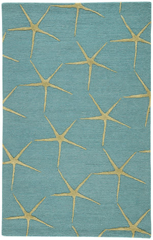 Jaipur Living Coastal Resort Starfishing Cor27 Mineral Blue - Ecru Olive Area Rug