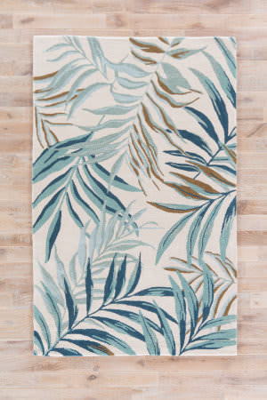 Jaipur Living Coastal Resort Peninsula Cor30 White - Blue Area Rug