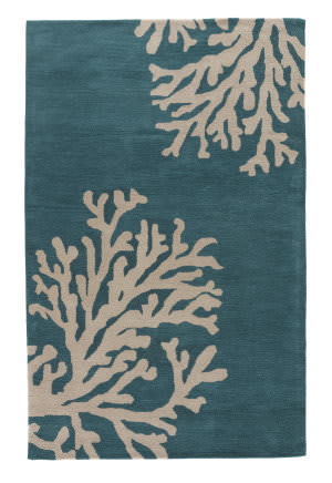 Jaipur Living Coastal Seaside Bough Cos03 Atlantic Deep - Silver Birch Area Rug