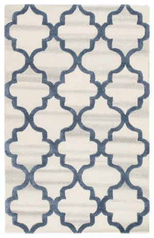 Jaipur Living City Miami Ct111 Silver - Blue Area Rug