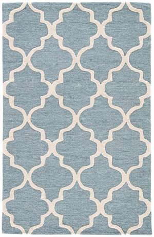 Jaipur Living City Miami Ct28 Blue Shadow - Bright White Area Rug