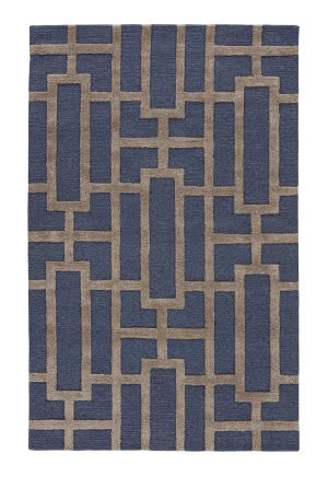 Custom Jaipur Living City Dallas Ct37 Medieval Blue - Cobblestone Area Rug