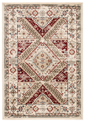 Jaipur Living Elysian Gadot Ely02 Ivory - Red Area Rug