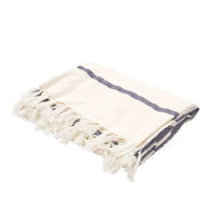 Jaipur Living Essential Throw Essen02 Ess03 Angora And Insignia Blue