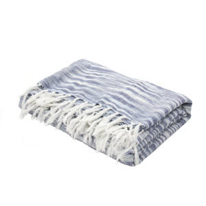 Jaipur Living Essential Throw Essen03 Ess06 Midnight Navy And Ashley Blue