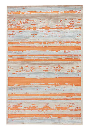 Jaipur Living Fables Dazzle Fb96 Apricot Orange - Barely Blue Area Rug