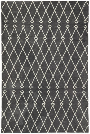 Jaipur Living Fusion Desenio Fn61 Dark Gray - White Area Rug