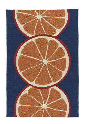 Jaipur Living Grant I-O Citrus Gd44 Nautical Blue - Marigold Area Rug
