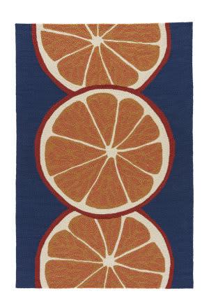 Jaipur Living Grant I-O Citrus Gd44 Nautical Blue - Marigold Area Rug