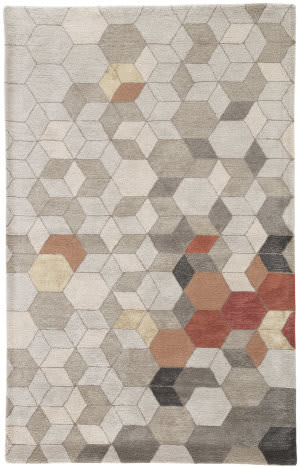 Jaipur Living Genesis Combs Ges03 Light Gray - Orange Area Rug