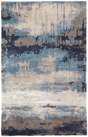 Custom Jaipur Living Genesis Benna Ges18 Blue - Gray Area Rug