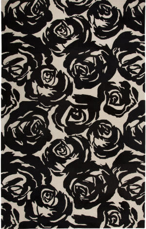 Jaipur Living Gramercy By Kate Spade New York Contrast Rose Garden Gkn12 Black Area Rug