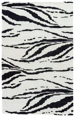 Jaipur Living Gramercy By Kate Spade New York Tiger Stripe Gkn62 Light Cream - Black Area Rug