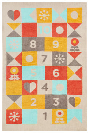 Jaipur Living Iconic By Petit Collage Hopscotch Ibp03 Sand Shell Area Rug