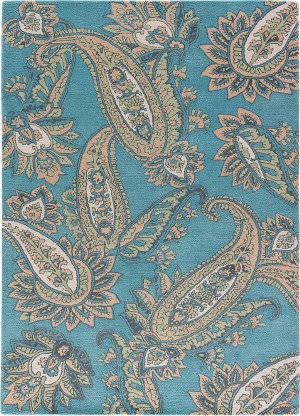 Jaipur Living Timeless By Jennifer Adams Paisley Jat29 Smoke Blue Area Rug