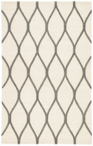 Jaipur Living Lounge Marquia Loe02 Snow White - Frost Gray Area Rug