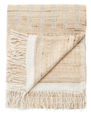 Jaipur Living Lovell Throw Lov-06 Lov08 Warm Sand - Cloud Dancer