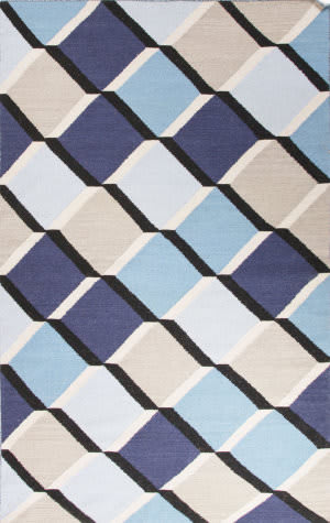 Jaipur Living En Casa By Luli Sanchez Flat-Weave Harlequin Cube Lsf13 Pewter - Surf The Web Area Rug