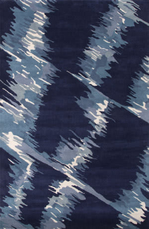Jaipur Living En Casa By Luli Sanchez Tufted Waves Lst04 Patriot Blue - Moonlight Blue Area Rug