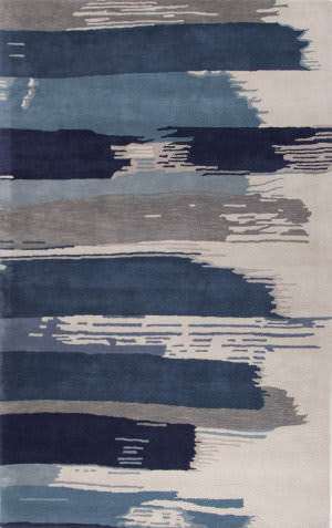 Jaipur Living En Casa By Luli Sanchez Painterly Lst35 Bonnie Blue - Federal Blue Area Rug