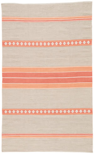 Jaipur Living Traditions Made Modern Cotton Flat Weave Cuzco Mcf04 Cement - Oyster Gray Area Rug