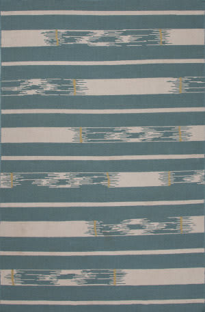 Jaipur Living Traditions Made Modern Flat Weave Sassandra Mmf10 Teal - Oyster Gray Area Rug