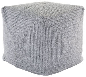 Jaipur Living Montauk Pouf Bridgehampton Mot02 Light Gray