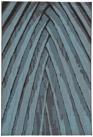Jaipur Living National Geographic Home Collection Palm Leaf Ngo03 Dark Slate Area Rug