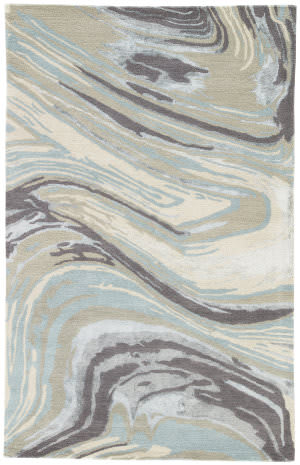 Jaipur Living National Geographic Home Collection Lilos Ngt17 Iceberg Green and Cement Area Rug