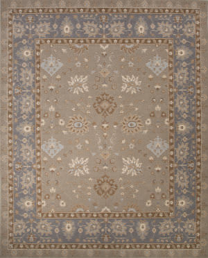 Jaipur Living Orient Ogden Ore08 Cloud Cream - Slate Gray Area Rug