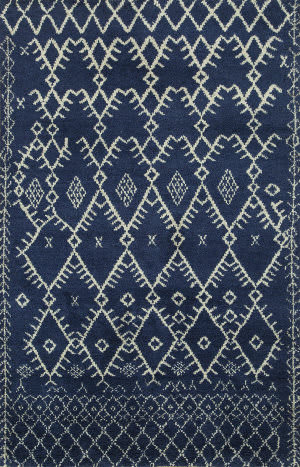 Jaipur Living One Of A Kind Pkwl-03 Navy Blue - White Area Rug