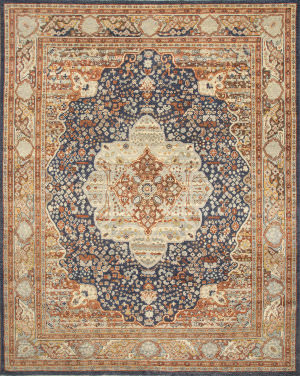 Jaipur Living One Of A Kind Pkwl-275 Denim Blue - Serene Green Area Rug