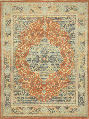 Jaipur Living One Of A Kind Pkwl-275 Red Orange - Creamy White Area Rug