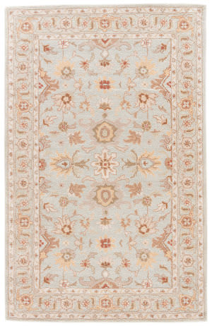 Custom Jaipur Living Poeme Abralin Pm104 Glacier Gray - White Sand Area Rug