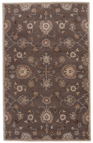 Custom Jaipur Living Poeme Nantes Pm105 Seal Brown - Thyme Area Rug