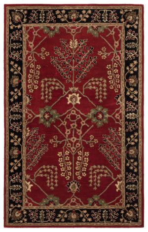 Custom Jaipur Living Poeme Chambery Pm111 Red Ochre - Jet Black Area Rug