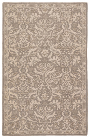 Custom Jaipur Living Poeme Corsica Pm121 Neutral Gray - Silver Gray Area Rug