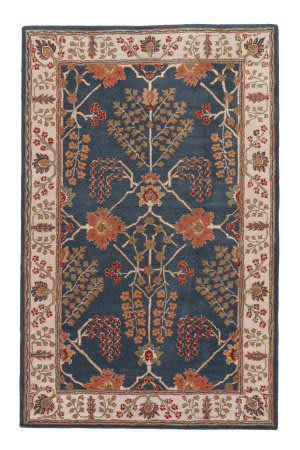 Jaipur Living Poeme Chambery Pm82 Dark Blue - Lily White Area Rug