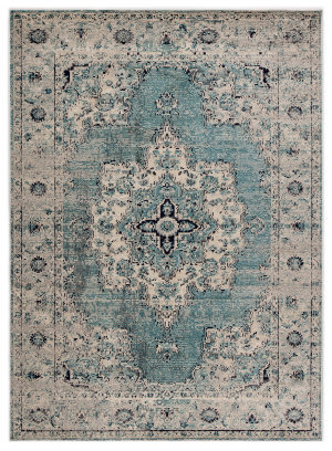 Jaipur Living Peridot Sontag Prd02 Turquoise - Gray Area Rug