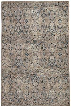 Jaipur Living Revolution Williamsburg Rel06 Gray - Navy Area Rug