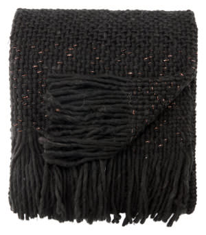Jaipur Living Sublime By Nikki Chu Throw Prado Sbk05 Jet Black - Copper Area Rug