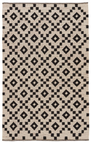 Jaipur Living Scandinavia Nordic Croix Scn01 Turtledove - Jet Black Area Rug