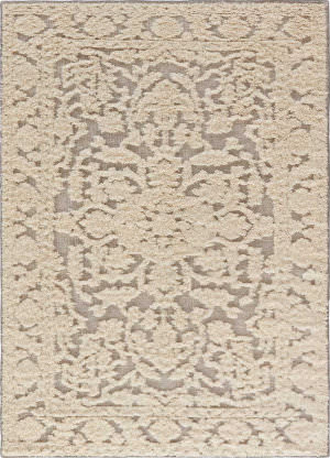 Jaipur Living Shakur By Nikki Chu Mutulu Snc01 Cloud Cream and Neutral Gray Area Rug