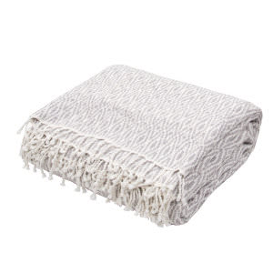 Jaipur Living Spirit Throw Spirit01 Spr02 Opal Gray And Cloud Dancer