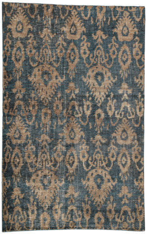 Jaipur Living Traditions Made Modern Select Fortuny Tms05 Midnight Navy - Lead Gray Area Rug